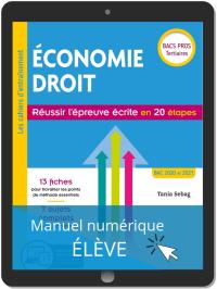 Économie-Droit - Réussir l'épreuve écrite en 20 étapes Bac Pro (2019) - Pochette - Manuel numérique élève