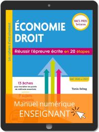 Économie Droit. Réussir l'épreuve écrite en 20 étapes Bac Pro (2019) - Manuel numérique enseignant