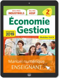 Économie-Gestion 2de Bac Pro (2019) - Pochette - Manuel numérique enseignant