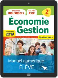 Economie Gestion 2de Bac Pro (2019) - Manuel numérique élève