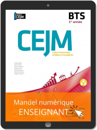Culture économique, juridique et managériale (CEJM) 1re année BTS (2020) - Manuel numérique enseignant