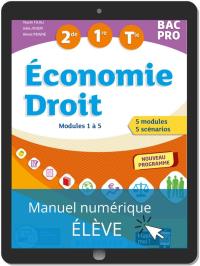 Économie-Droit 2de, 1re, Tle Bac Pro (2020) - Pochette - Manuel numérique élève