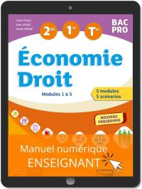 Économie-Droit 2de, 1re, Tle Bac Pro (2020) - Manuel numérique enseignant