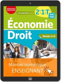 Économie-Droit 2de, 1re, Tle Bac Pro (2020) - Pochette - Manuel numérique enseignant
