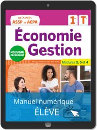 Économie-Gestion 1re, Tle Bac Pro ASSP et AEPA (2020) - Pochette - Manuel numérique élève