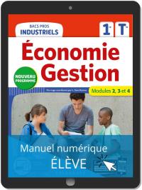 Économie-Gestion 1re, Tle Bacs Pros Industriels (2020) - Pochette - Manuel numérique élève