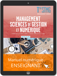Management, Sciences de gestion et numérique Tle STMG (2020) Manuel - Manuel numérique enseignant