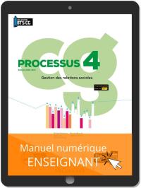 Processus 4 - Gestion des relations sociales BTS Comptabilité Gestion (CG) (2020) - Pochette - Manuel numérique enseignant