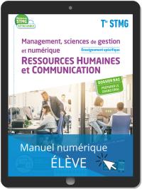 Management, Sciences de gestion et numérique - Ressources Humaines et communication enseignement spécifique Tle STMG (2020) - Pochette - Manuel numérique élève