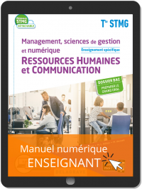 Management, Sciences de gestion et numérique - Ressources Humaines et communication enseignement spécifique Tle STMG (2020) - Pochette - Manuel numérique enseignant