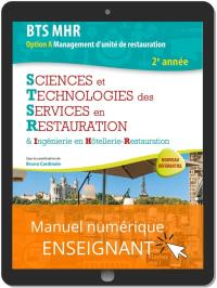 Sciences et Technologies des Services en Restauration (STSR) 2e année BTS MHR (2020) - Pochette - Manuel numérique enseignant