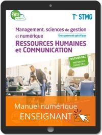 Management, sciences de gestion et numérique - Ressources Humaines et communication enseignement spécifique Tle STMG (2020) Manuel - Manuel numérique enseignant