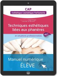 Techniques Esthétique Cosmétique Parfumerie liées aux phanères - Pôle 2 - CAP ECP (2021) - Pochette - Manuel numérique élève