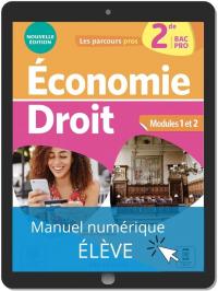 Économie-Droit 2de Bac Pro (2021) - Pochette - Manuel numérique élève