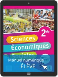 Sciences Économiques et Sociales (SES) 2de (2021) - Pochette - Manuel numérique élève