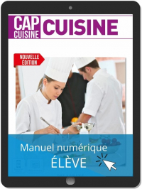 Cuisine 1re et 2e années CAP Cuisine (2021) - Pochette - Manuel numérique élève