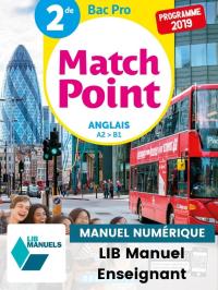 Match Point Anglais 2de Bac Pro (2019) - Manuel numérique enseignant