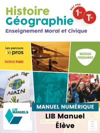 Histoire Géographie EMC 1re, Tle Bac Pro (2021) - Pochette - Manuel numérique élève